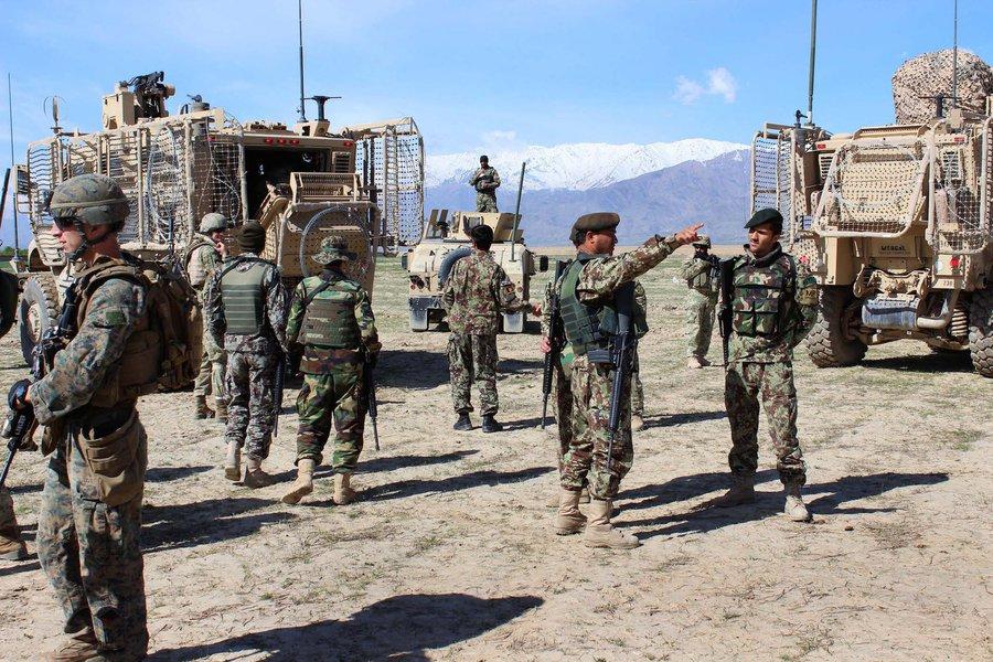 Soldados dos EUA e afegãos, Afeganistão, Estado Islâmico, Daes, terrorismo