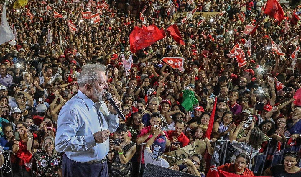 Abertura da caravana Lula por Minas Gerais, em Ipatinga. Em defesa da Soberania Nacional. #LulaPeloBrasil #LulaPorMinasGerais Foto Ricardo Stuckert