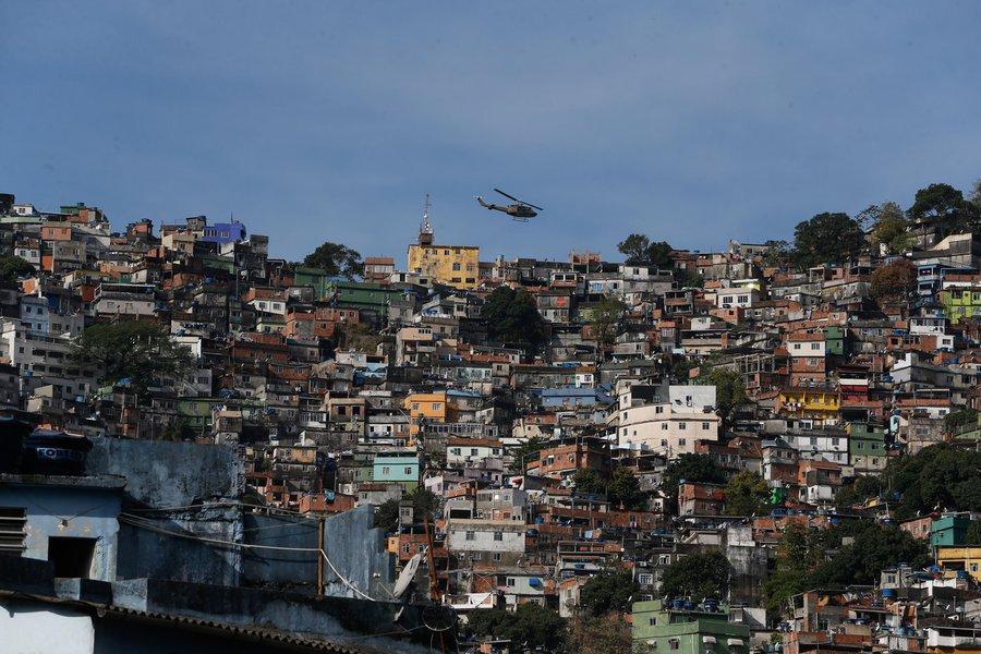 22/09/2017- Rio de Janeiro- RJ, Brasil- Operação de segurança contra confrontos entre traficantes na favela da Rocinha Foto: Fernando Frazão/Agência Brasil