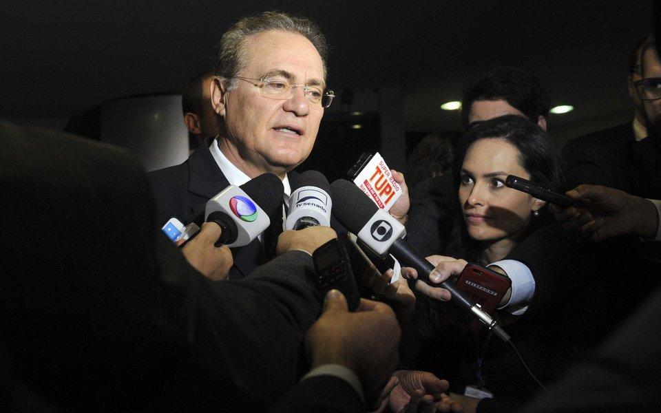 Presidente do Senado Federal, senador Renan Calheiros (PMDB-AL), concede entrevista. Foto: Jane de Araújo/Agência Senado