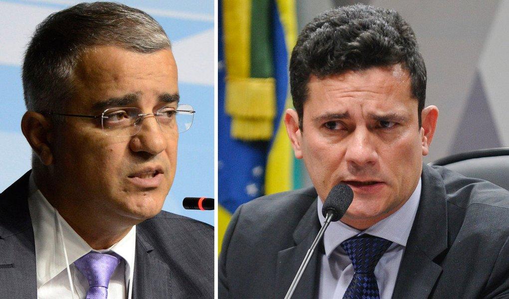 Jornalista Kennedy Alencar e juiz federal Sérgio Moro