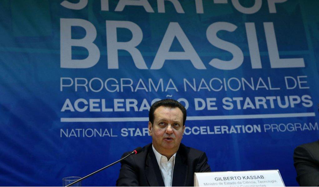 10/07/2017 -Brasília - O ministro da Ciência e Tecnologia, Gilberto Kassab participa do lançamento da nova etapa do programa Start-Up BR. Foto Antonio Cruz/Agência Brasil)
