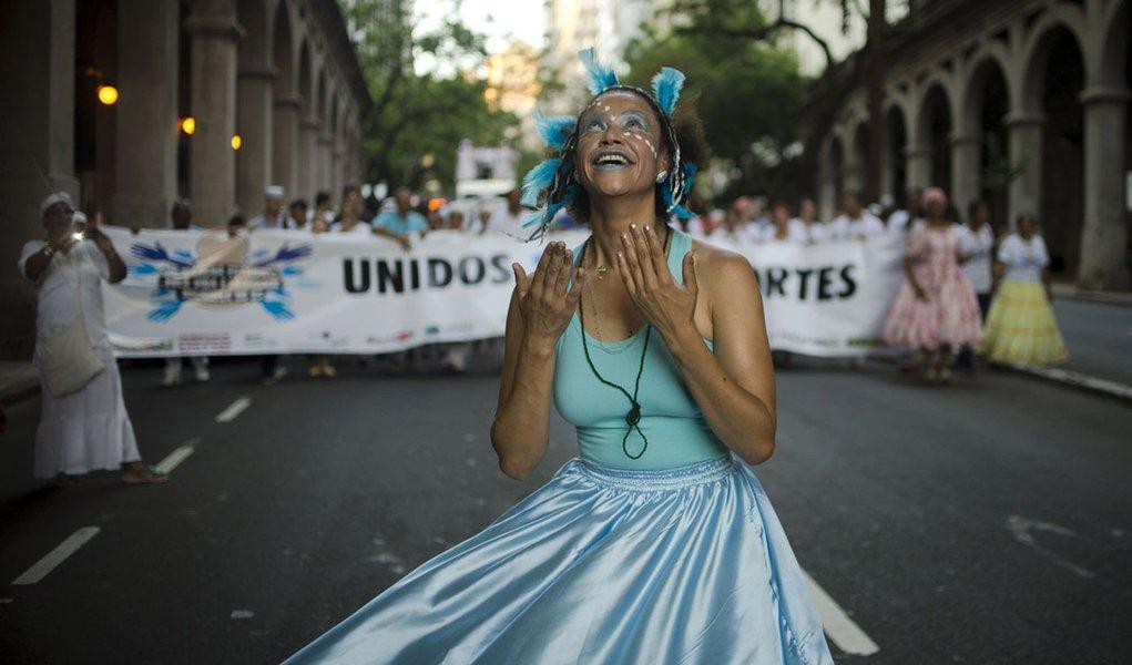 Porto Alegre - No dia do combate a Intoler�ncia Religiosa, acontece em Porto alegre, a Marcha pela Vida e Liberdade Religiosa (Marcelo Camargo/Ag�ncia Brasil)