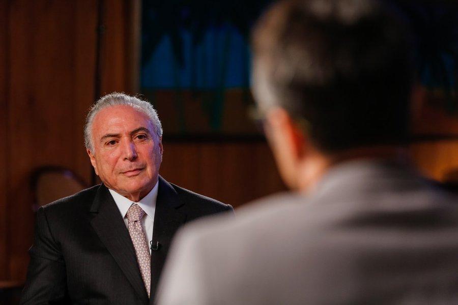 (Brasília - DF, 22/04/2017) Entrevista à Televisión Española (TVE) Foto: Marcos Corrêa/PR