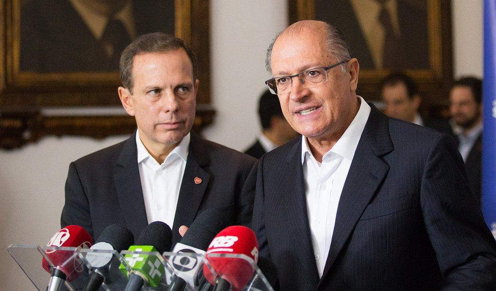 O Governador Geraldo Alckmin junto ao Prefeito João DóriaDiogo Moreira