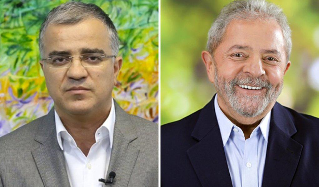 Jornalista Kennedy Alencar e ex-presidente Luiz Inácio Lula da Silva