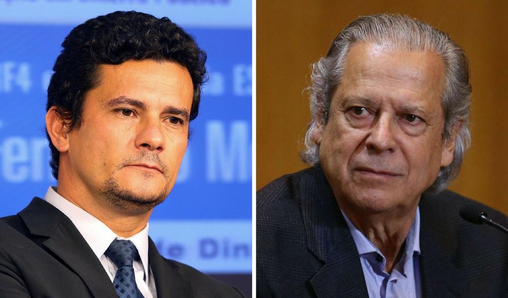 José Dirceu e Sergio Moro