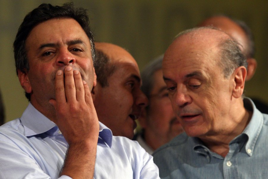 Aécio Neves e José Serra