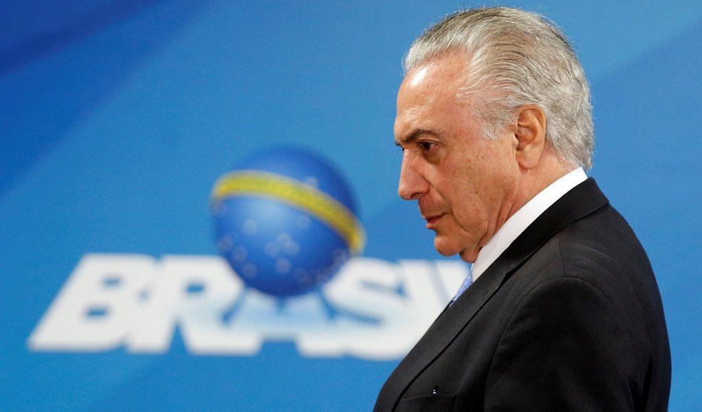 Presidente Michel Temer durante cerimônia no Palácio do Planalto em Brasília 21/12/2017 REUTERS/Adriano Machado