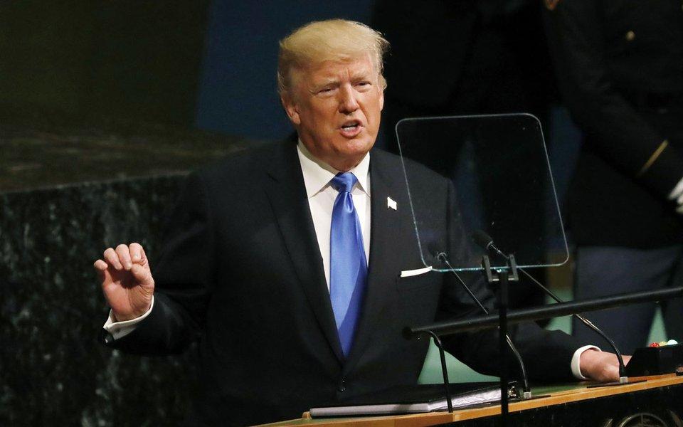 Presidente dos EUA, Donald Trump, em discurso na 72ª Assembleia Geral da ONU 19/09/2017 REUTERS/Shannon Stapleton
