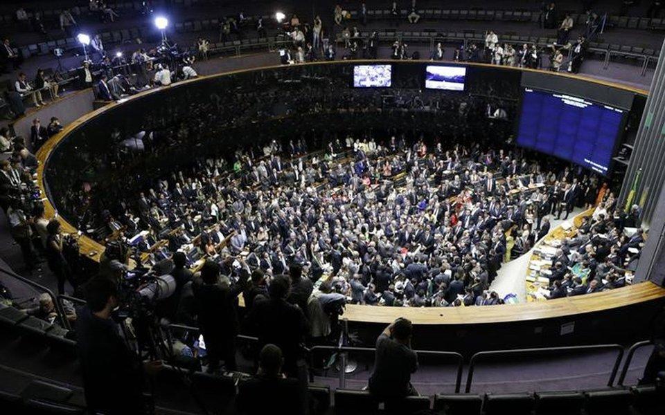 Plenário da Câmara dos Deputados em Brasília 17/04/2016 REUTERS/Ueslei Marcelino