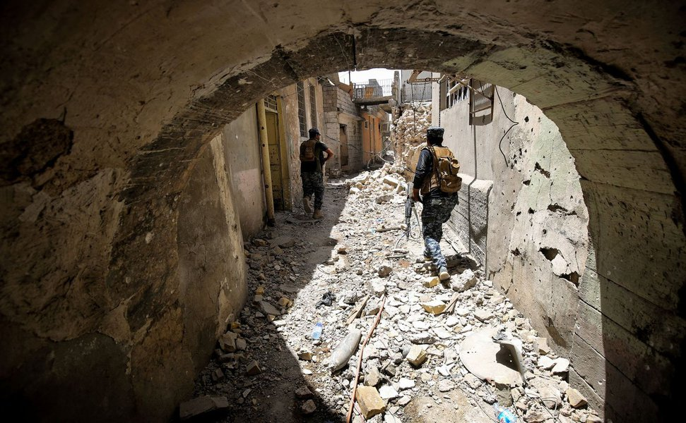 Tropas do Iraque em Mosul, terrorismo, Estado islâmico