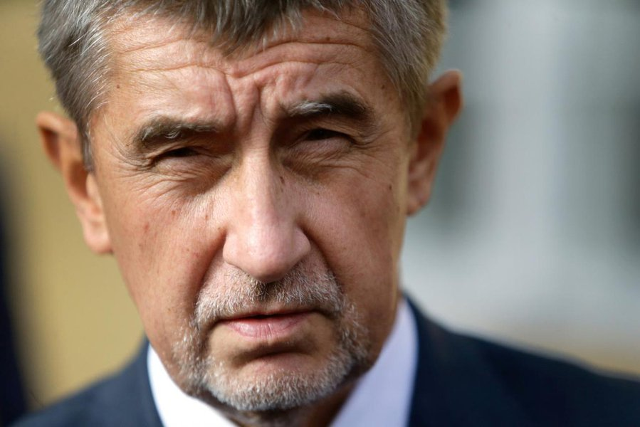 The leader of ANO party Andrej Babis speaks to the media after casting his vote in parliamentary elections in Prague, Czech Republic October 20, 2017. REUTERS/David W Cerny