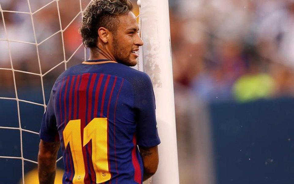 Neymar em jogo do Barcelona contra a Juventus 22/7/2017 REUTERS/Mike Segar