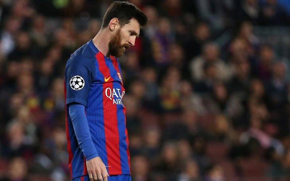 Jogador do Barcelona Lionel Messi, na Espanha. 19/04/2017 Reuters/Sergio Perez