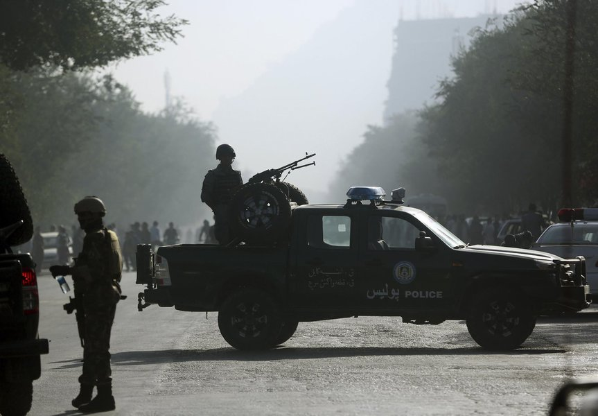 Forças de segurança em Cabul, Afeganistão