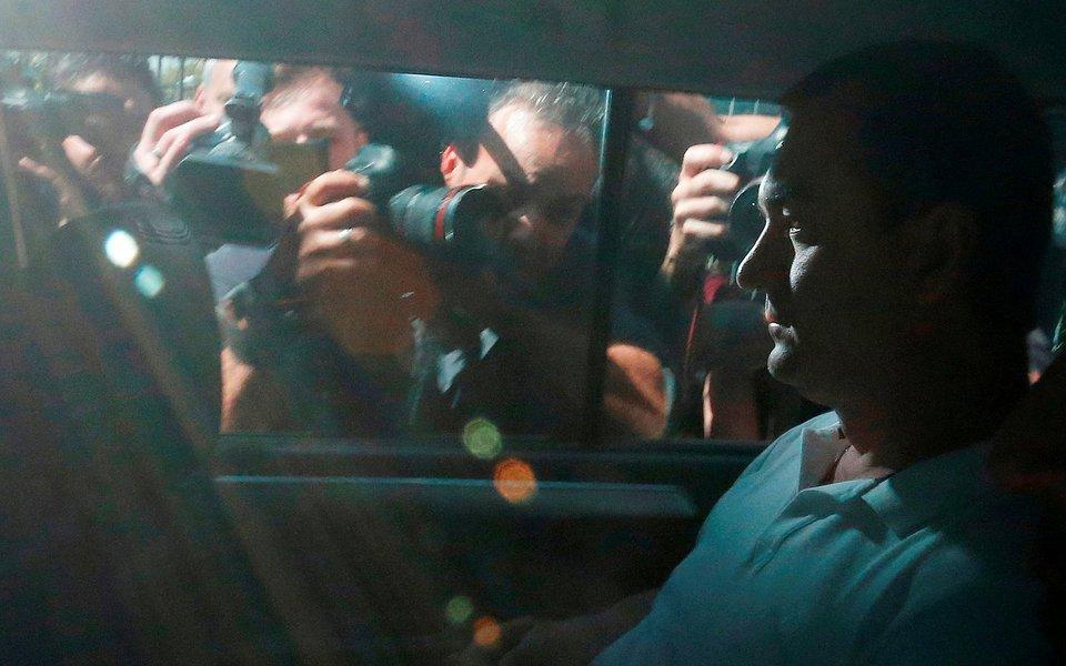 Empresário Joesley Batista deixa sede da Polícia Federal, em São Paulo 11/09/2017 REUTERS/Leonardo Benassatto