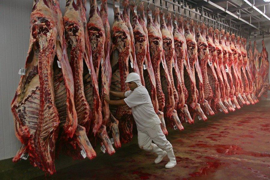 Carne, exportações, frigoríficos