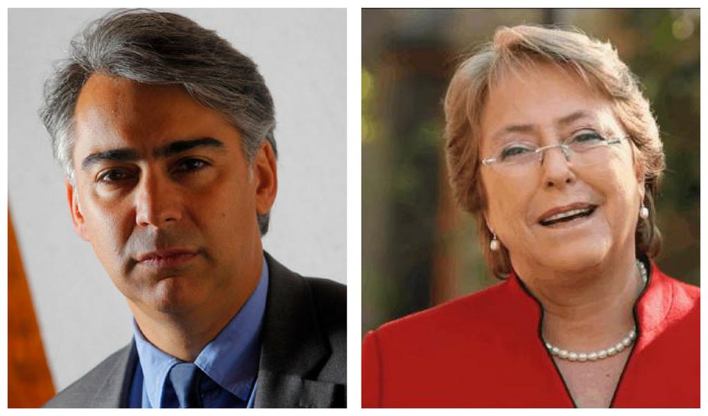Marco Enríquez-Ominami e Michelle Bachelet
