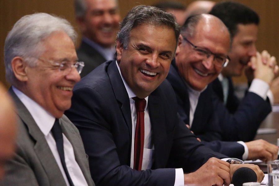 Aécio Neves, Fernando Henrique Cardoso, Geraldo Alckmin