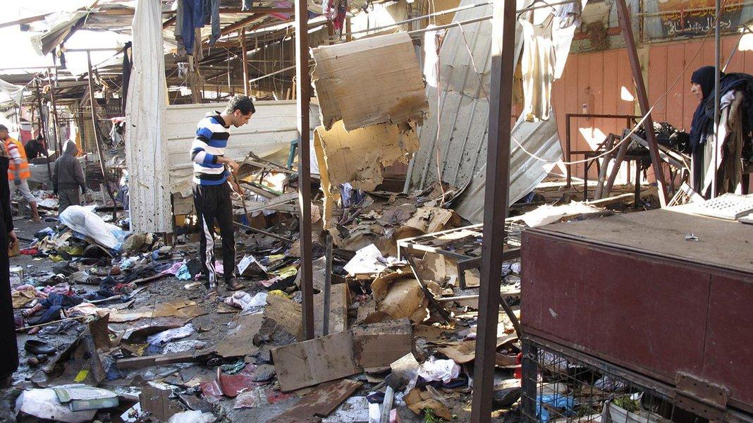 Explosão em mercado do Iraque