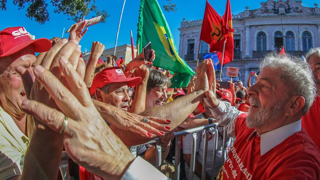 29/4/2017- Rio Grande do Sul, Brasil- O ex-presidente Luiz Inácio Lula da Silva participa de ato em defesa do polo naval. Foto: Ricardo Stuckert