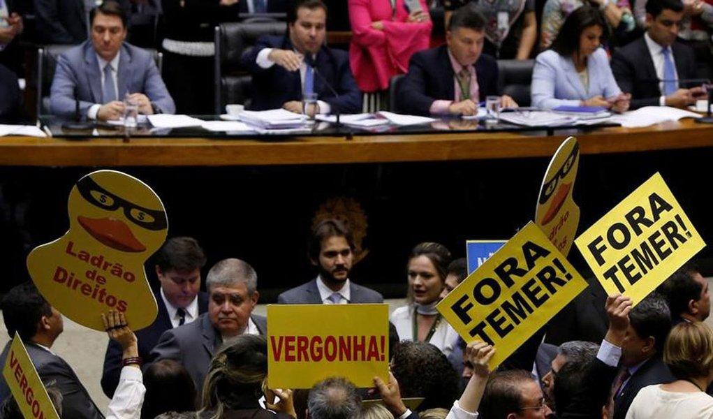 Votação de denúncia contra Temer na Câmara 25/10/2017 REUTERS/Adriano Machado