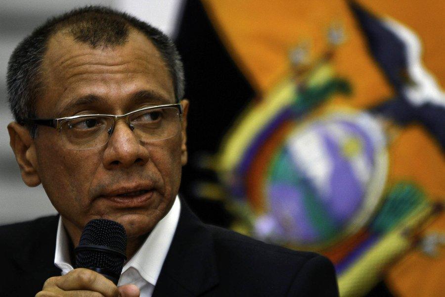 Jorge Glas, Vicepresidente de la República del Ecuador y miembro del partido Alianza País, junto a Alexis Mera(i.)