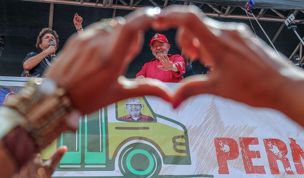 Lula visita Ipojuca, em Pernambuco, cidade que sofre com o desmonte da indústria naval. Fotos Ricardo Stuckert
