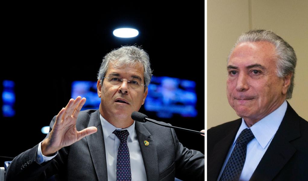 Jorge Viana e Michel Temer