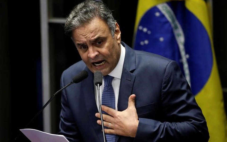 Aécio Neves discursa no Senado 04/07/2017 REUTERS/Ueslei Marcelino