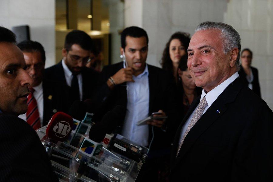 (Brasília - DF, 20/04/2017) Coletiva do Presidente Michel Temer. Foto: Marcos Corrêa/PR