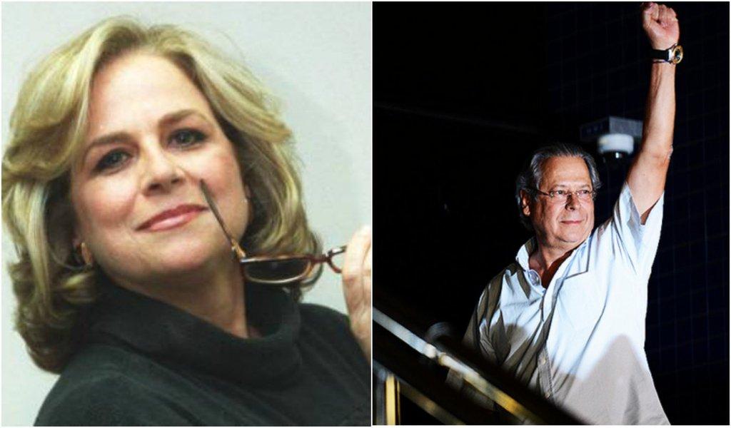 Hildegard Angel e José Dirceu