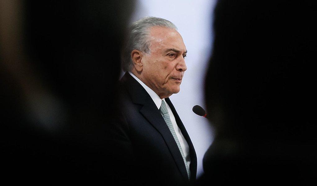 (Brasília - DF, 18/05/2017) Pronunciamento do Presidente da República, Michel Temer, à imprensa. Foto: Beto Barata/PR