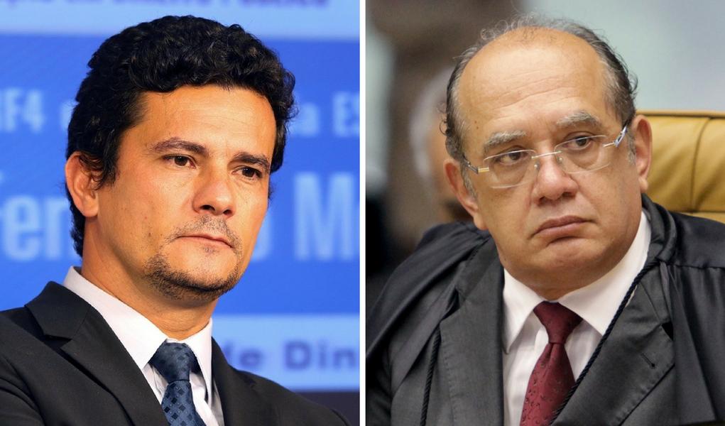 Sergio Moro e Gilmar Mendes