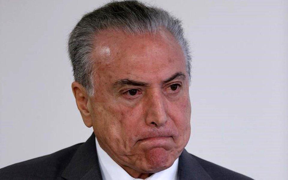 Temer durante cerimônia no Palácio do Planalto 12/4/2017 REUTERS/Ueslei Marcelino