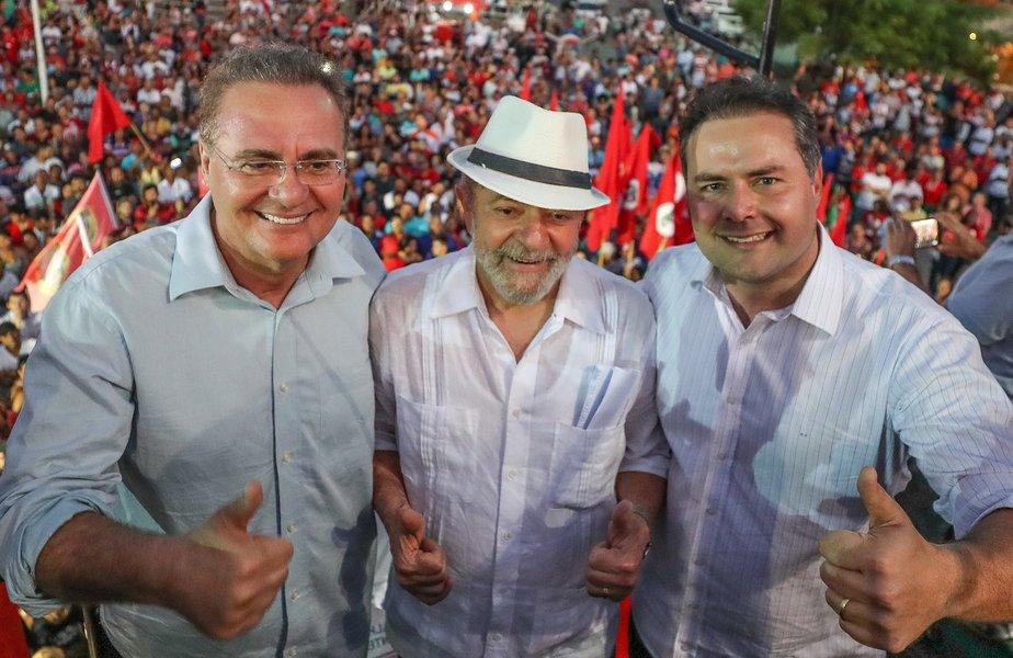 Ex pres Lula ao lado do senador Renan Calheiros (PMDB-AL) e do governador Renan Filho. Foto Ricardo Stuckert