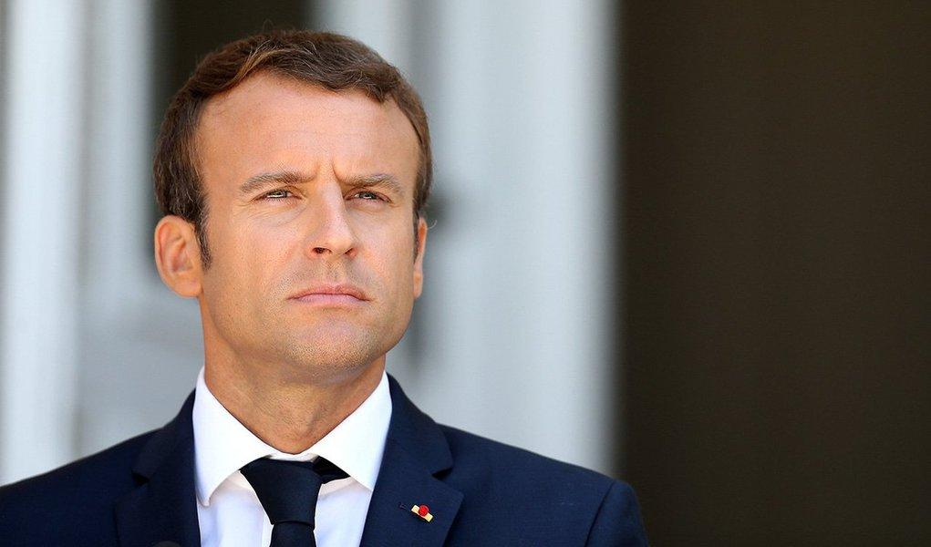 Presidente francês, Emmanuel Macron, durante coletiva de imprensa na Bulgária 25/08/2017 REUTERS/Stoyan Nenov