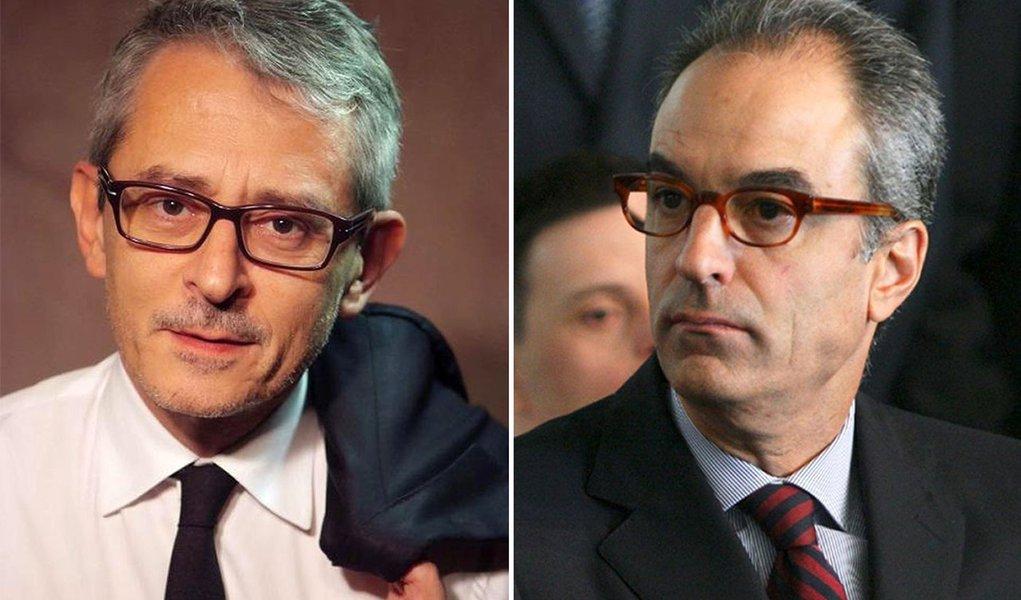 Otávio Frias e João Roberto Marinho