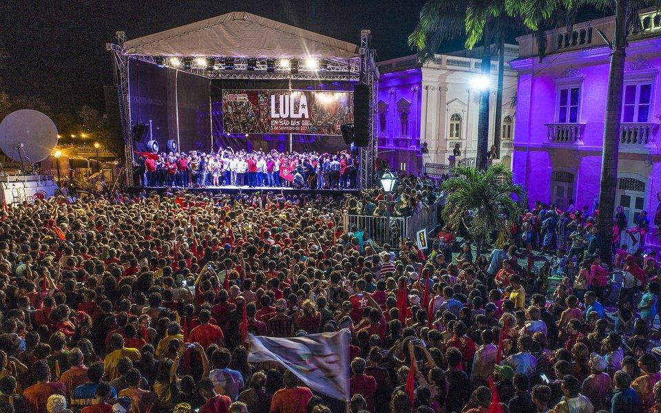 Ato de encerramento da Caravana Lula pelo Brasil, no Maranhão Fotos Ricardo Stuckert