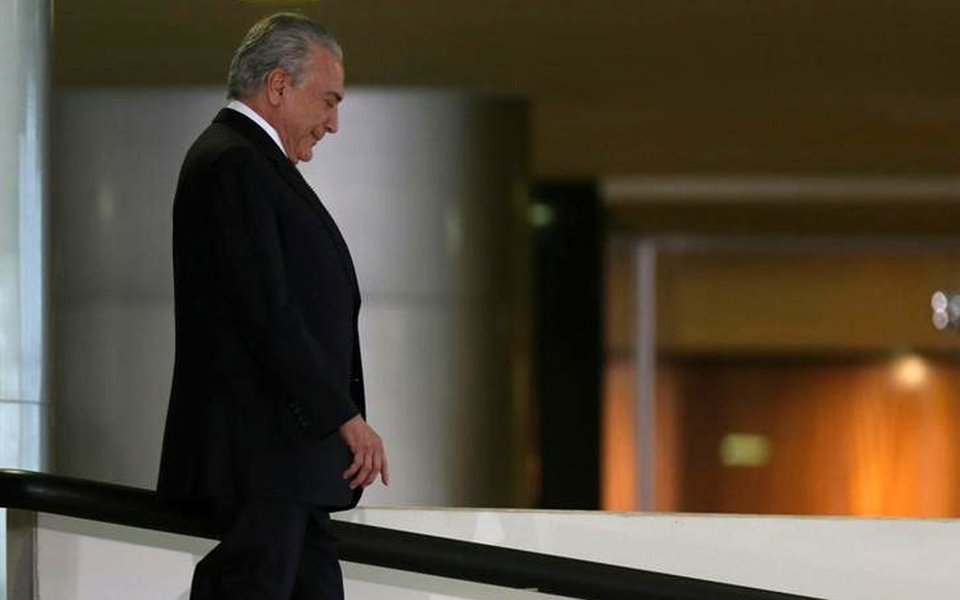 O presidente brasileiro Michel Temer no Palácio do Planalto, em Brasília 25/07/2017 REUTERS/Adriano Machado