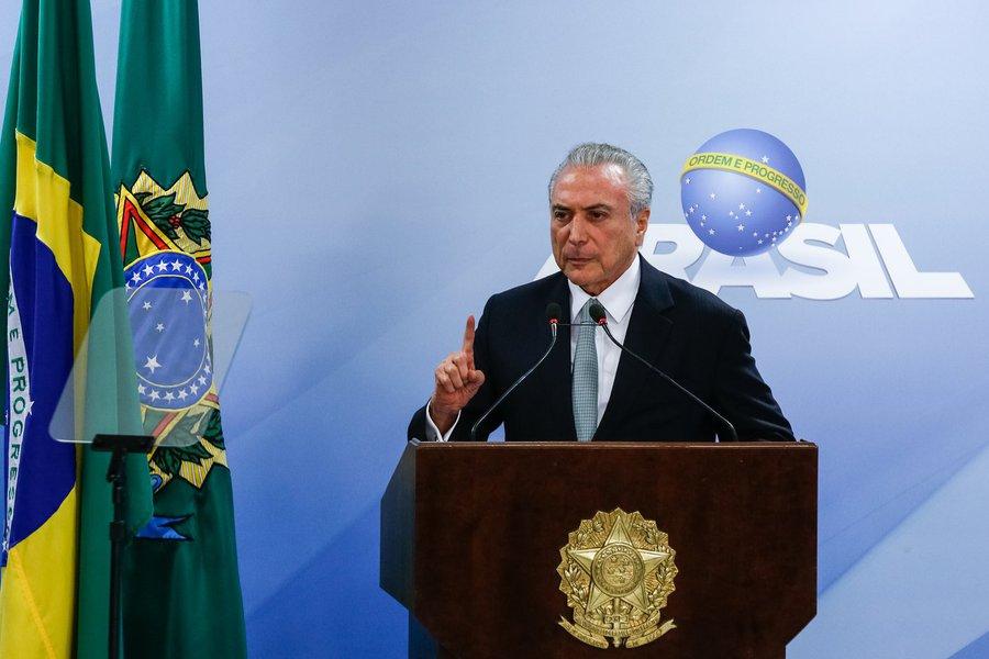 (Brasília - DF, 18/05/2017) Pronunciamento do Presidente da República, Michel Temer à imprensa. Foto: Marcos Corrêa/PR