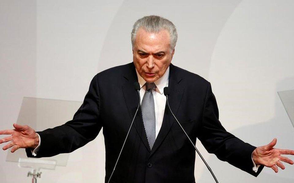 Presidente Michel Temer, durante evento em São Paulo 16/08/2017 REUTERS/Leonardo Benassatto