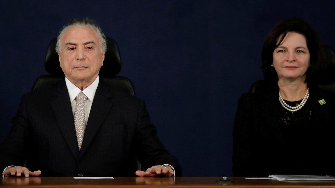 Presidente Michel Temer e nova procuradora-geral da República, Raquel Dodge 18/09/2017 REUTERS/Ueslei Marcelino