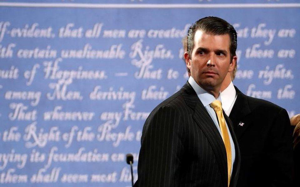 Donald Trump Jr, filho do presidente dos Estados Unidos, Donald Trump, em Nova York 26/09/2016 REUTERS/Brian Snyder