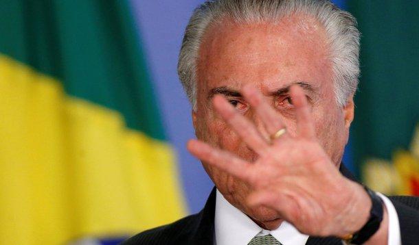 Presidente Michel Temer no Palácio do Planalto 15/12/2017 REUTERS/Adriano Machado