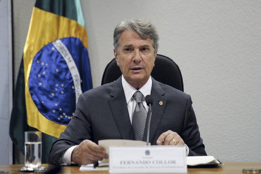 Senador Fernando Collor (PTB-AL), presidente da CI, divulga a realização do Fórum Nacional de Infraestrutura, nos dias 27 e 28 de março deste ano