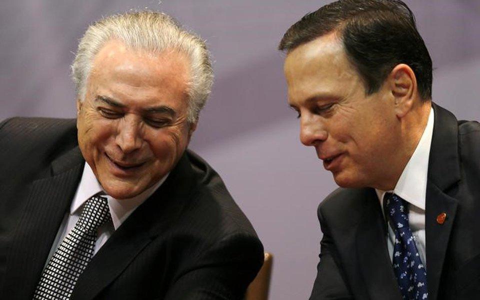 Presidente Michel Temer e prefeito de São Paulo, João Doria, em evento em São Paulo 07/08/2017 REUTERS/Paulo Whitaker