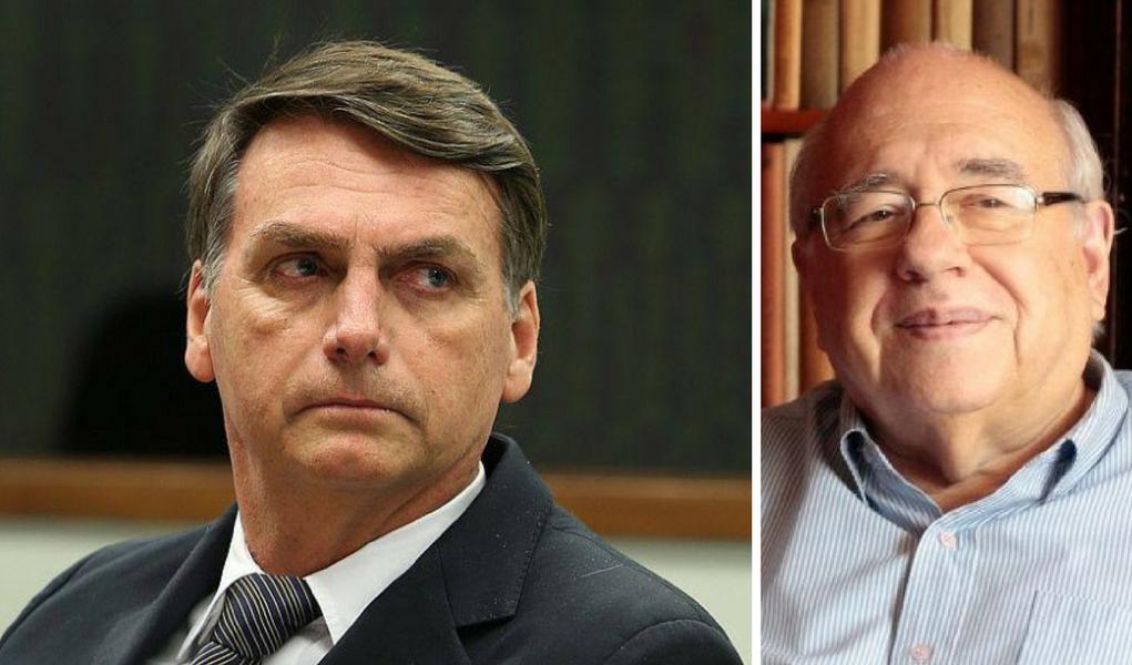 Luis Fernando Veríssimo e Jair Bolsonaro
