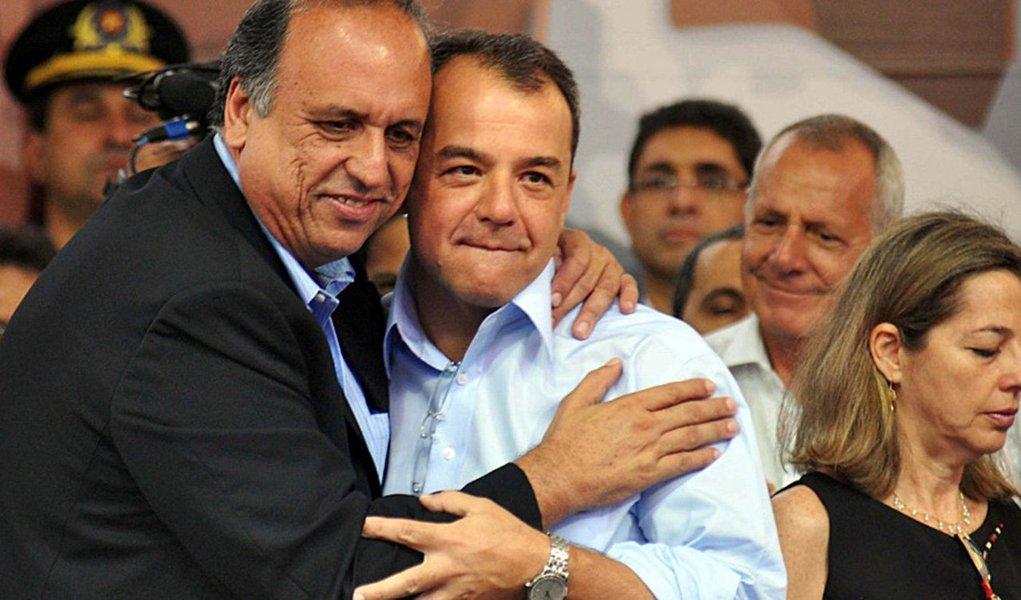 Luiz Fernando Pezão e Sérgio Cabral